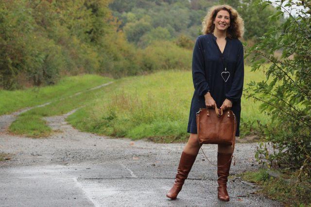Produktfoto von kleinerspatz zum Nähen für Schnittmuster Kleid mit Kellerfalte