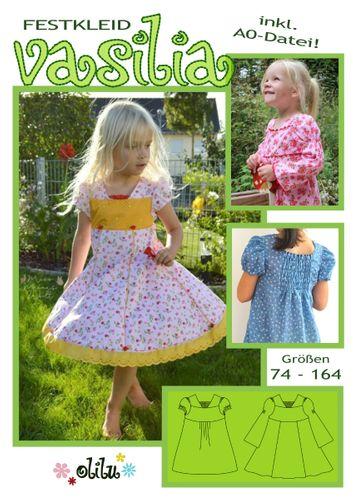 Produktfoto von olilu zum Nähen für Schnittmuster Festkleid Vasilia