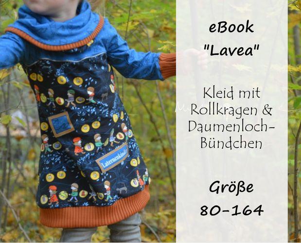 Produktfoto von Bunte Nähigkeiten zum Nähen für Schnittmuster Rollkragen-Kleid Lavea
