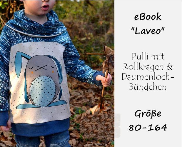 Produktfoto von Bunte Nähigkeiten zum Nähen für Schnittmuster Rollkragen-Pulli Laveo