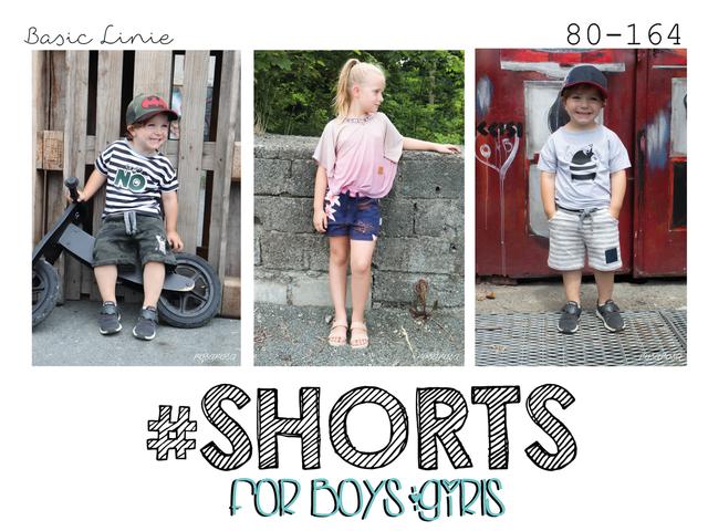 Produktfoto von rosarosa zum Nähen für Schnittmuster #Shorts - für Jungen und Mädchen