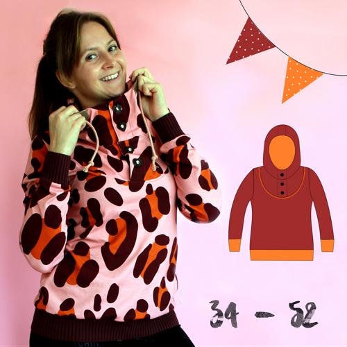 Produktfoto von Anni Nanni zum Nähen für Schnittmuster Herbstkuschler Damen