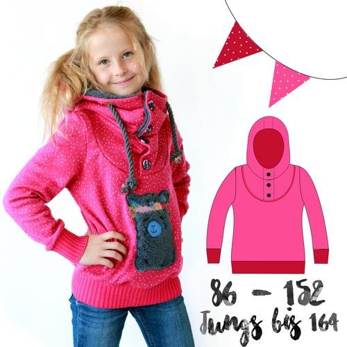 Produktfoto von Anni Nanni zum Nähen für Schnittmuster Herbstkuschler Kinder