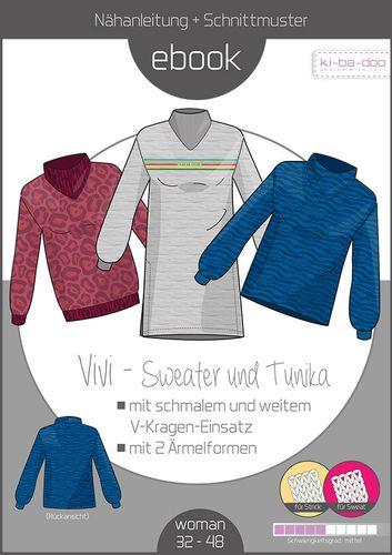 Produktfoto von ki-ba-doo zum Nähen für Schnittmuster Vivi Sweater Damen