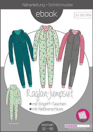 Produktfoto von ki-ba-doo zum Nähen für Schnittmuster Raglan-Jumpsuit Damen