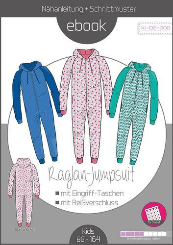 Produktfoto von ki-ba-doo zum Nähen für Schnittmuster Raglan-Jumpsuit Kinder