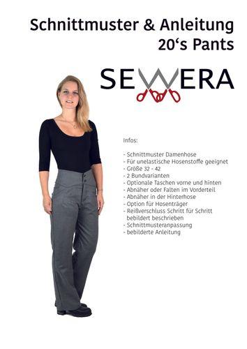 Produktfoto von sewera zum Nähen für Schnittmuster 20's Pants