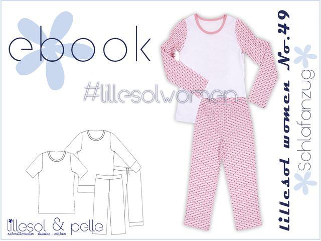 Produktfoto von Lillesol & Pelle zum Nähen für Schnittmuster Lillesol women No. 49 Schlafanzug