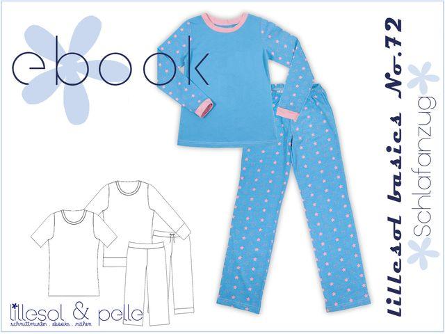 Produktfoto von Lillesol & Pelle zum Nähen für Schnittmuster Lillesol basics No. 72 Schlafanzug