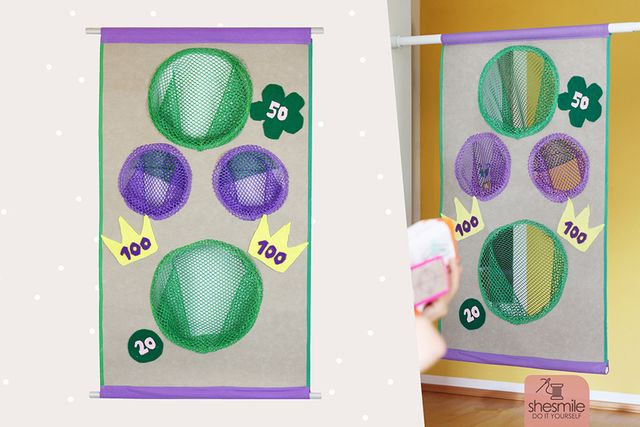 Produktfoto von shesmile zum Nähen für Schnittmuster Kiddiscore - Zielscheibe mit Fangnetz