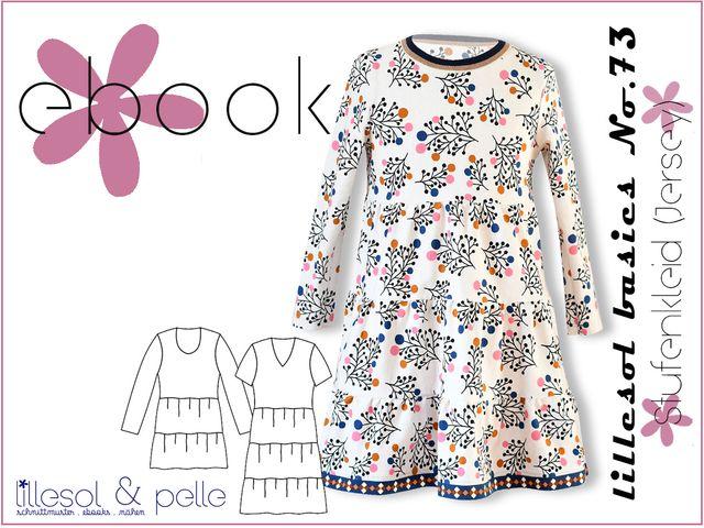 Produktfoto von Lillesol & Pelle zum Nähen für Schnittmuster lillesol basics No.73 Stufenkleid (Jersey)