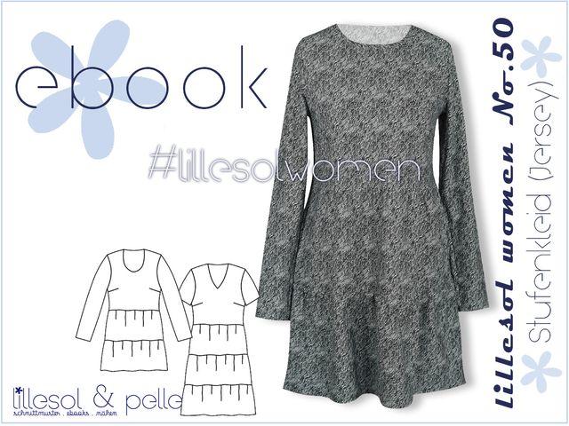 Produktfoto von Lillesol & Pelle zum Nähen für Schnittmuster lillesol women No.50 Stufenkleid (Jersey)