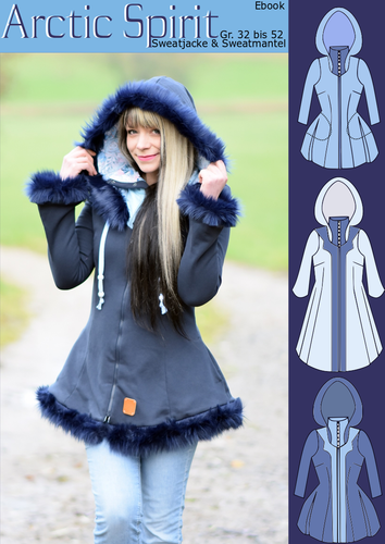 Produktfoto von Rosalieb & Wildblau zum Nähen für Schnittmuster Sweatjacke & -mantel Arctic Spirit