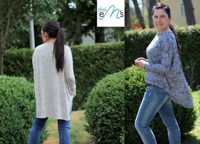 Produktfoto von drei eMs zum Nähen für Schnittmuster Shirt Isalie