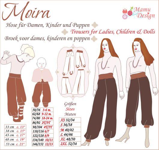 Produktfoto von Mamu Design zum Nähen für Schnittmuster Moira