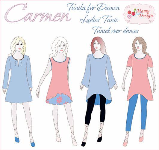 Produktfoto von Mamu Design zum Nähen für Schnittmuster Carmen