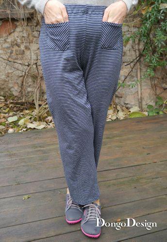 Produktfoto von DongoDesign zum Nähen für Schnittmuster Supereasy Jersey-Hose Tanja