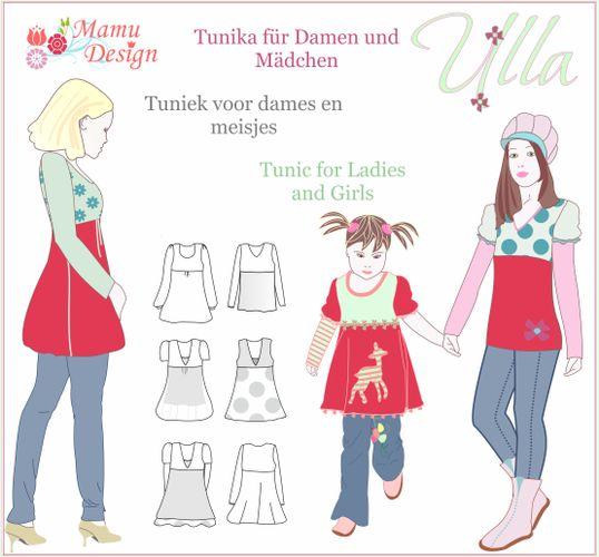 Produktfoto von Mamu Design zum Nähen für Schnittmuster Ulla