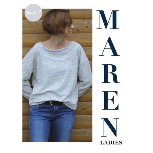 Produktfoto von Sara & Julez zum Nähen für Schnittmuster Oversize shirt MAREN Ladies