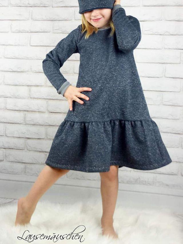 Produktfoto von Mini & Me Patterns zum Nähen für Schnittmuster Mini&Me Winterdress Girls