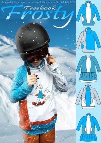 Produktfoto von Rosalieb & Wildblau zum Nähen für Schnittmuster Frosty