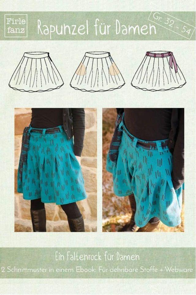 Produktfoto von Firlefanz zum Nähen für Schnittmuster Faltenrock Rapunzel für Damen