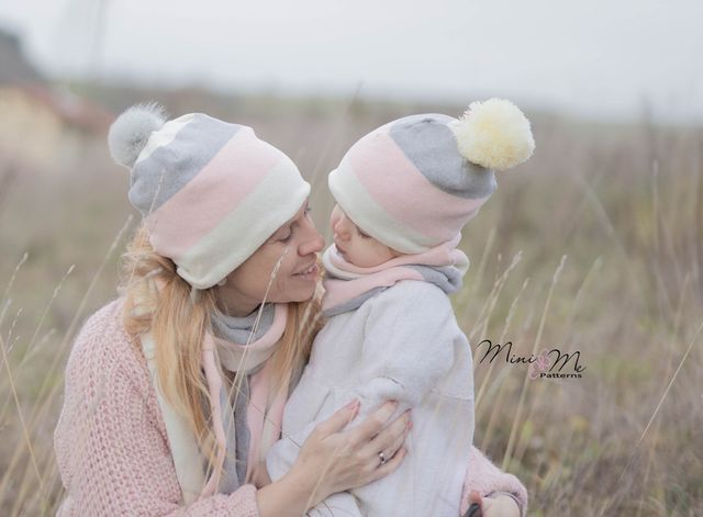 Produktfoto von Mini & Me Patterns zum Nähen für Schnittmuster Strickaccessoires Family