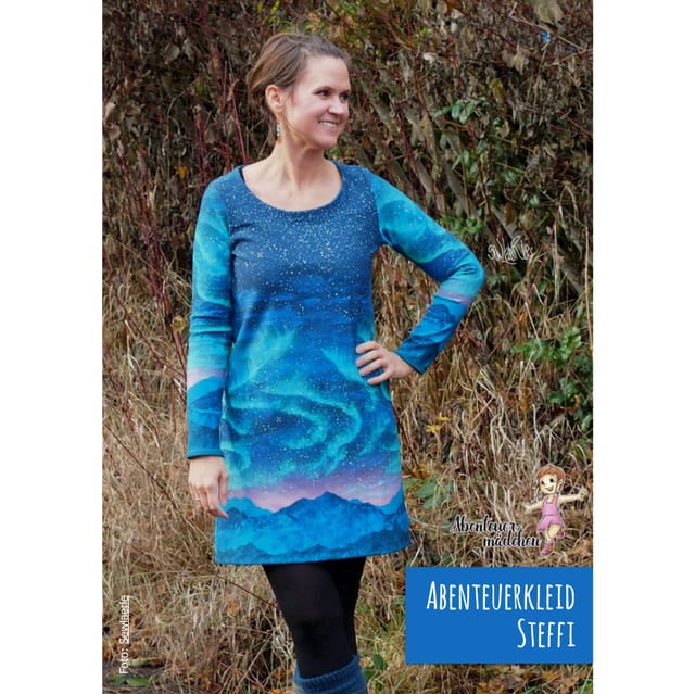 Produktfoto von Abenteuermädchen zum Nähen für Schnittmuster Abenteuerkleid Steffi für Damen