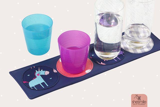 Produktfoto von shesmile zum Nähen für Schnittmuster Glasuntersetzer Lieblingsplatz