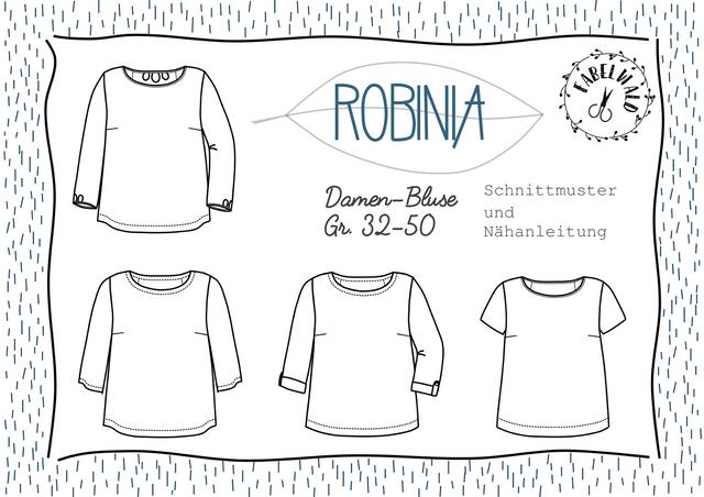 Produktfoto von Fabelwald zum Nähen für Schnittmuster Damenbluse Robinia