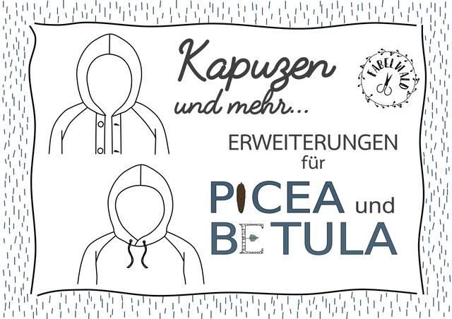 Produktfoto von Fabelwald zum Nähen für Schnittmuster Kapuzen und mehr - Erweiterung für BETULA und PICEA