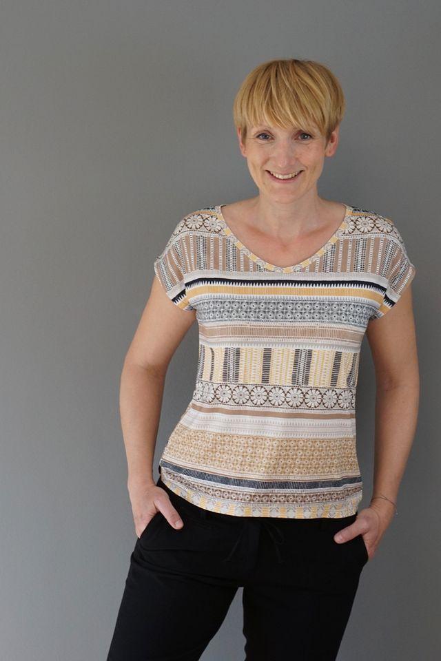 Produktfoto von Windschnittich zum Nähen für Schnittmuster Shirt Ella