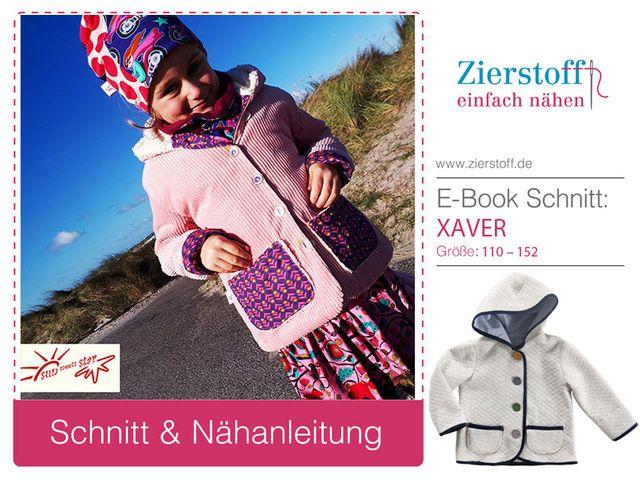 Produktfoto von Zierstoff zum Nähen für Schnittmuster Jacke Xaver 110-152