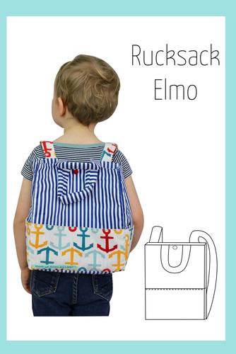 Produktfoto von Berlinerie zum Nähen für Schnittmuster Kinderrucksack Elmo