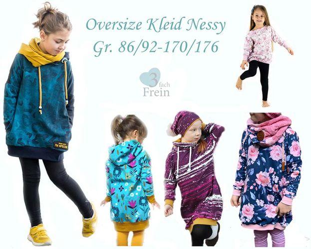 Produktfoto von 3fachFrein zum Nähen für Schnittmuster Oversizekleid Nessy