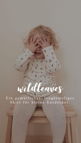 Produktfoto von Naturfaden zum Nähen für Schnittmuster Babyshirt Wildleaves