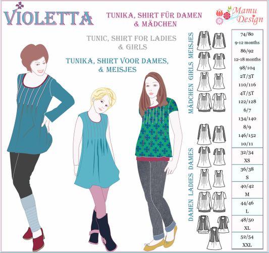 Produktfoto von Mamu Design zum Nähen für Schnittmuster Violetta