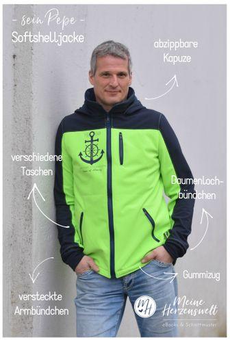 Produktfoto von Meine Herzenswelt zum Nähen für Schnittmuster Softshelljacke Herren - Sein Pepe