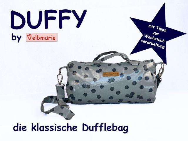 Produktfoto von elbmarie zum Nähen für Schnittmuster Dufflebag Duffy