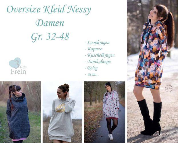 Produktfoto von 3fachFrein zum Nähen für Schnittmuster Oversizekleid Nessy Damen