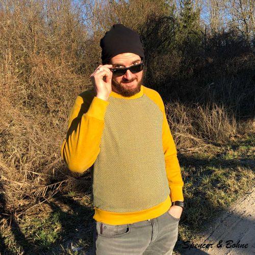Produktfoto von Hummelhonig zum Nähen für Schnittmuster Raglansweater Shannon