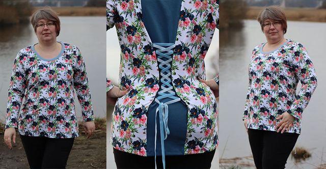 Produktfoto von Minas Design zum Nähen für Schnittmuster Shirt Polarstern