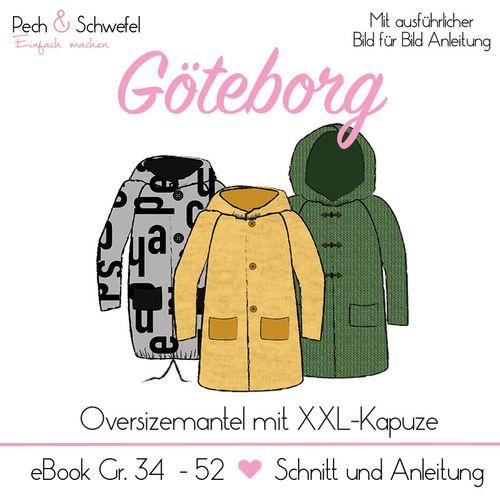 Produktfoto von Pech & Schwefel zum Nähen für Schnittmuster Oversizemantel Göteborg