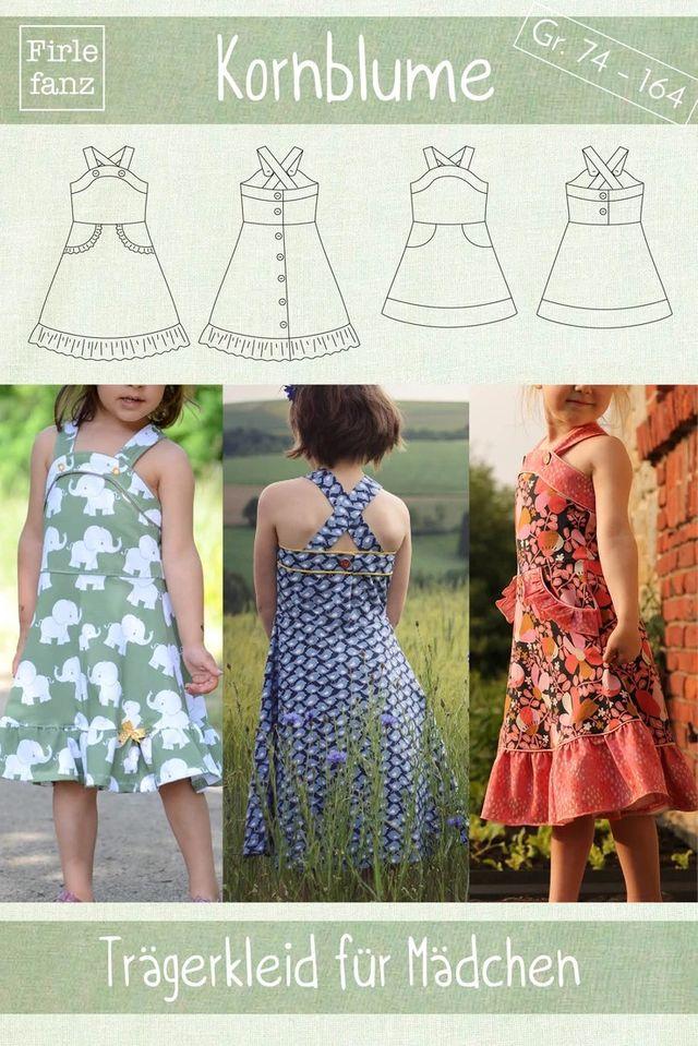 Produktfoto von Firlefanz zum Nähen für Schnittmuster Trägerkleid Kornblume