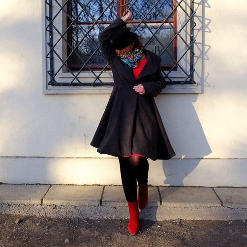 Produktfoto von Näh Bärchen zum Nähen für Schnittmuster Mantel Scarlett Rose