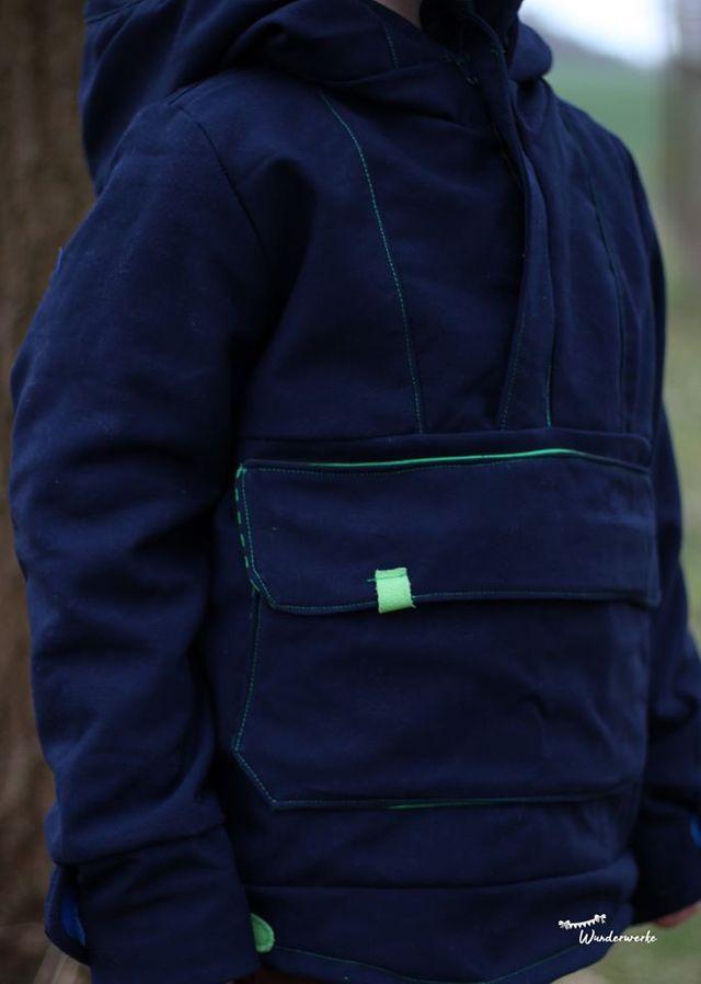 Produktfoto von Anni Nanni zum Nähen für Schnittmuster Windbreaker Nordwind