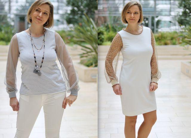 Produktfoto von drei eMs zum Nähen für Schnittmuster Shirt/Kleid Lacona