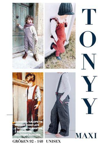 Produktfoto von Sara & Julez zum Nähen für Schnittmuster Latzhose/Salopette TONYY Maxi