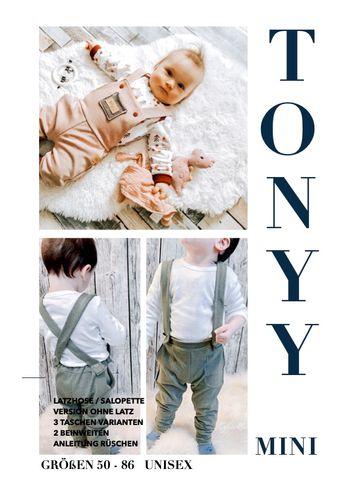 Produktfoto von Sara & Julez zum Nähen für Schnittmuster Latzhose/Salopette TONYY Mini