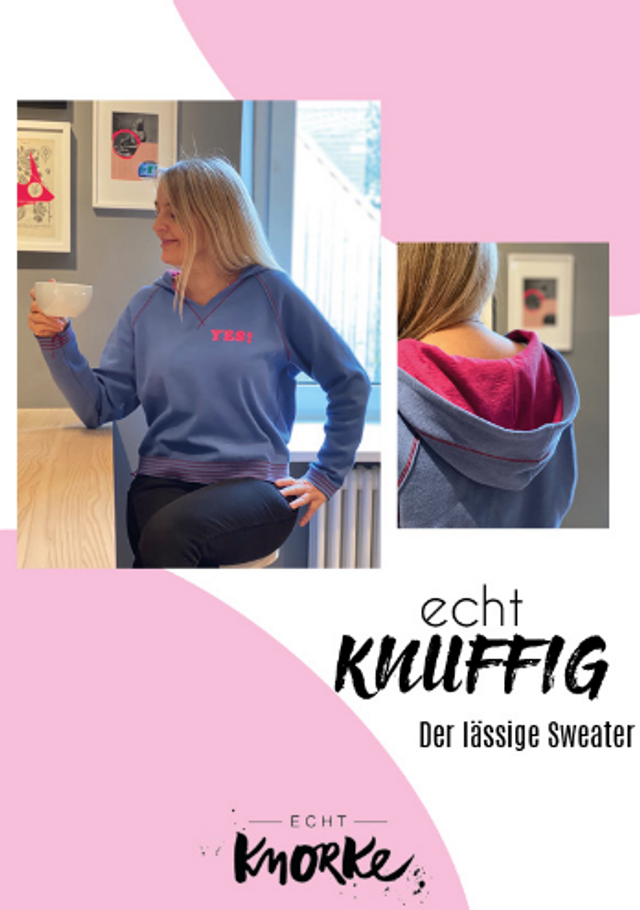 Produktfoto von echt Knorke zum Nähen für Schnittmuster echt Knuffig! Sweater